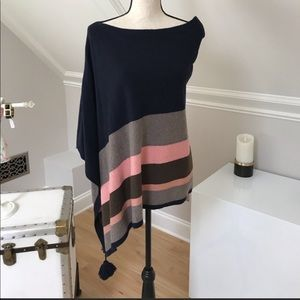 Ann Taylor Poncho Cape with tassels. One Size.